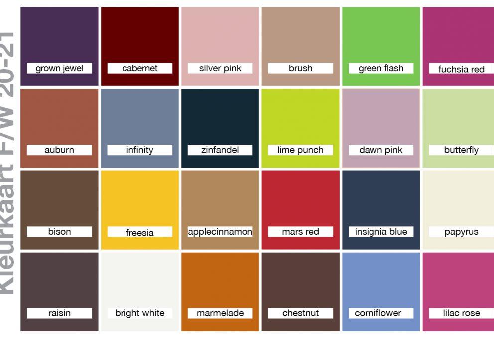 Breng wat kleur in het najaar: nieuwe modekleuren